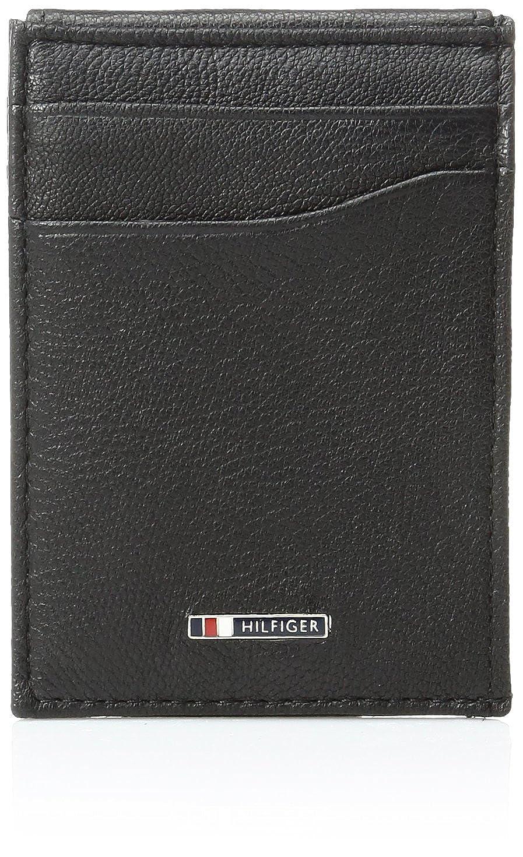 Tommy Hilfiger Men's Lloyd Slim Front Pocket Wallet Black One Size 31TL160006