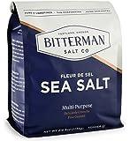 Bitterman's Fleur de Sel - Sea Salt - 2.5lb Bag - All Natural, Unrefined, Sun Evaporated, Hand Harvested and Kosher Salt