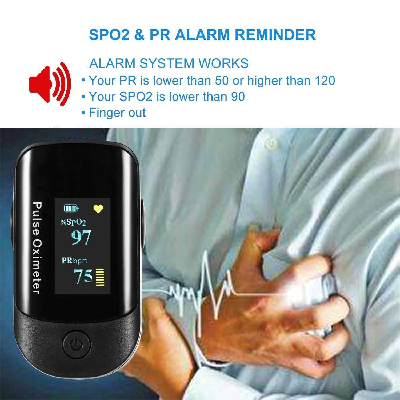 Oximeters Finger Meiteai Portable Fingertip Pulse Oximeter Sp02 Spo2 Heart Rate Digital Led Blood Oxygen Monitor With