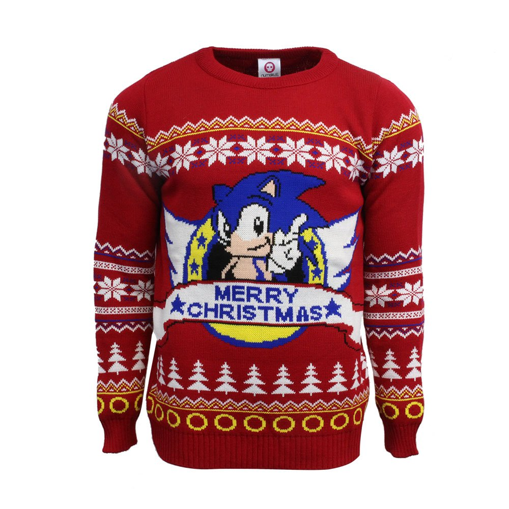 Classic Sonic Official Christmas Jumper / Sweater (X Small) Numskull