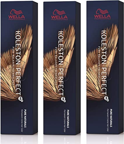 Wella Koleston Perfect Me+ KP Deep Brown 5/77 - Pack de 3 unidades, color marrón claro intenso