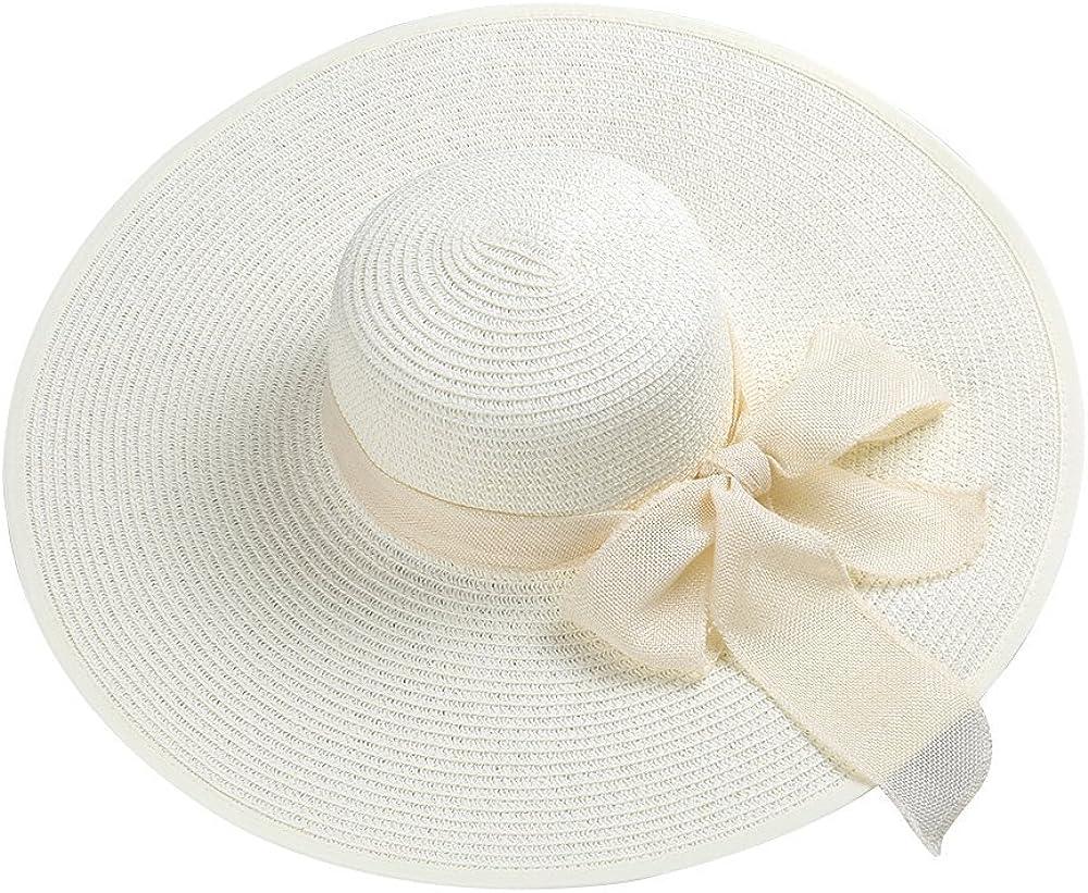 Fashion Womenroll up Summer Sun Wide Brim Hamptons Floppy Straw Hat
