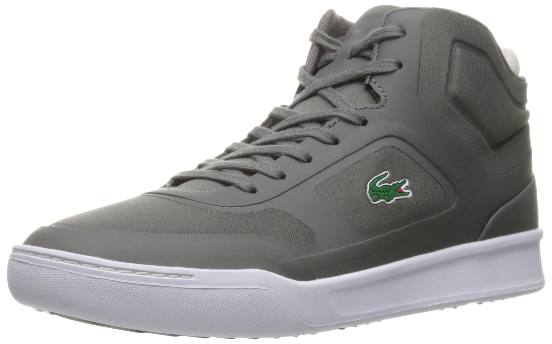 Lacoste Men's Explorateur Mid Spt 316 1 Spm Fashion Sneaker, Dark Grey, 12 M US