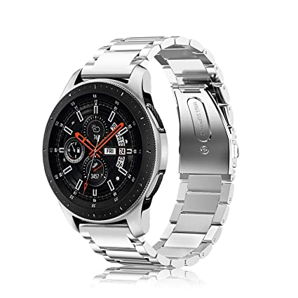 Fintie for Gear S3/Galaxy Watch 46mm Bands, 22mm Solid Stainless Steel Metal Bracelet Strap Replacement Wrist Band for Samsung Gear S3 Frontier/S3 ...