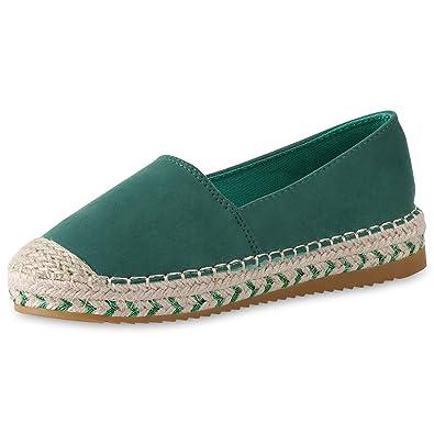 SCARPE VITA Damen Schuhe Slippers Espadrilles Bast Slip Ons