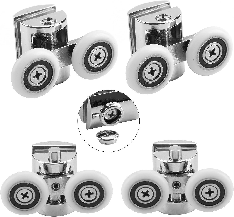 roues de 23mm de Lot de 4roulettes doubles de rechange pour porte de douche
