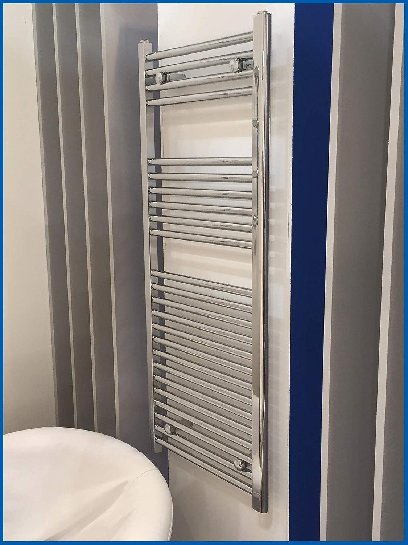 Radiador de ba/ño LIDYA cromo 1760 x 300 mm recto toallero calentador de toallas