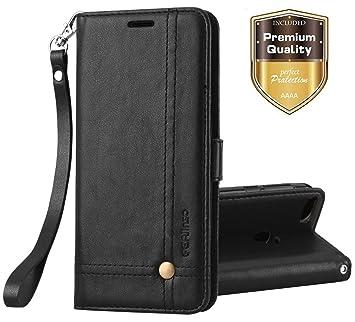Ferlinso Funda Xiaomi Redmi 4X, Carcasa Cuero Retro Elegante con ID Tarjeta de Crédito Tragamonedas Soporte de Flip Cover Estuche de cierre magnético ...