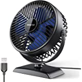 Gaiatop USB Desk Fan, Small but Powerful, Portable Quiet 3 Speeds Wind Desktop Personal Fan, Dual 360° Adjustment Mini Fan fo