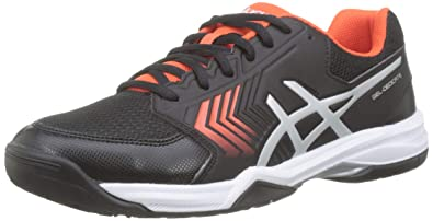 new product 3a961 fb780 ASICS Men s s Gel-Dedicate 5 Tennis Shoes Black Silver 007, ...