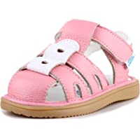 Anrenity Boys Girls Genuine Leather Soft Closed Toe Flat Shoes Summer Sandals(Toddler)