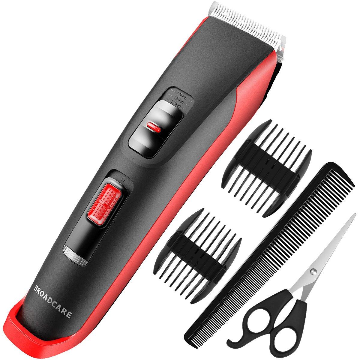 Hair Clippers Cordless Hair Trimmer for Men, BROADCARE Men's Hair Clipper Kit