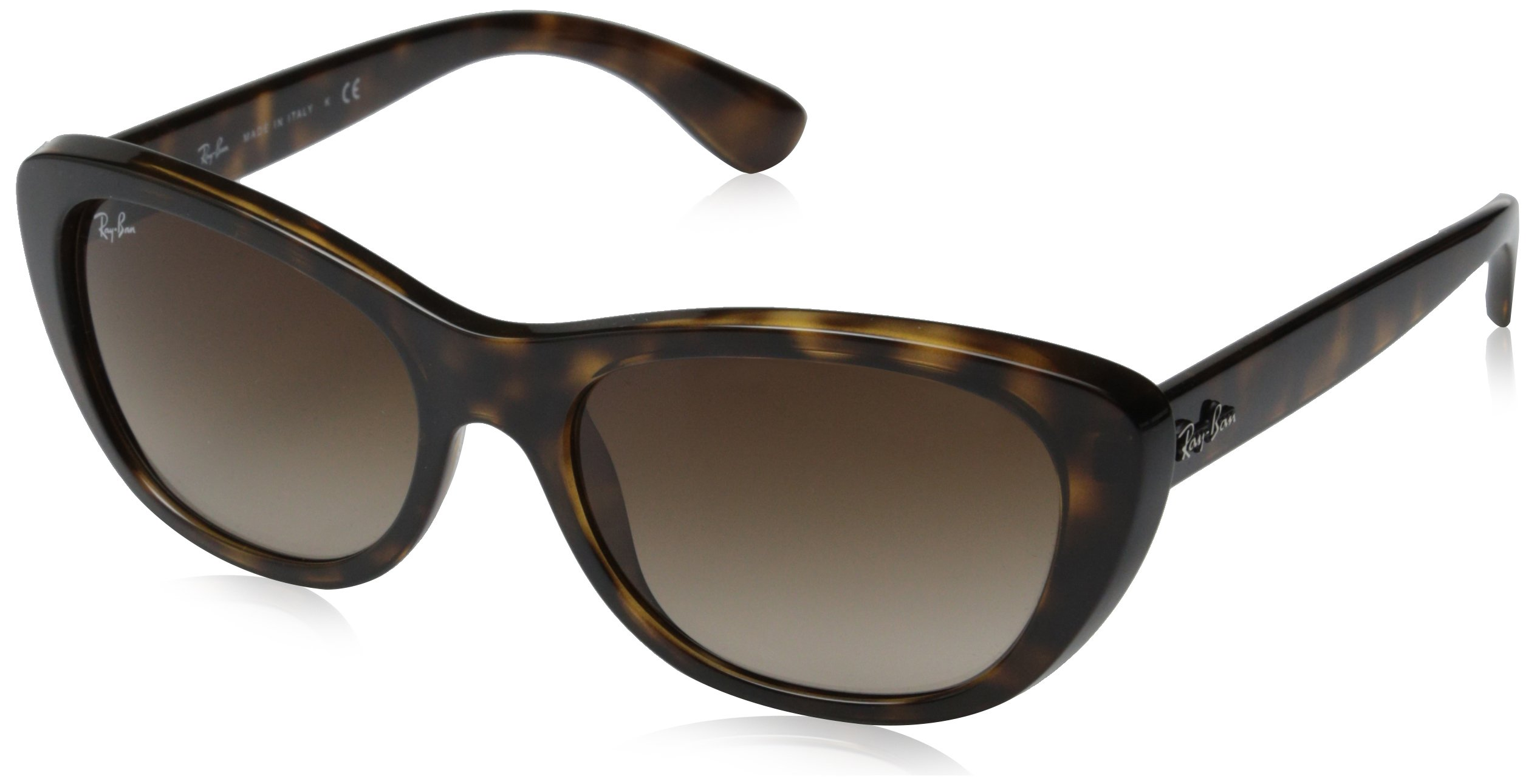 Ray-Ban INJECTED WOMAN SUNGLASS - LIGHT HAVANA Frame BROWN GRADIENT Lenses 55mm Non-Polarized by Ray-Ban