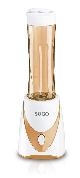 Sogo SS-5085 Batidora Especial para Batidos, 250 W, 0.5 litros, Plástico, Naranja, Blanco: Amazon.es: Hogar