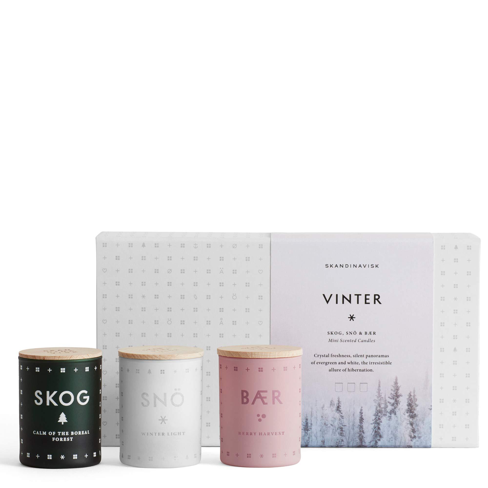 SKANDINAVISK Vinter (Winter) Mini Candle Gift Set 3 x 1.94 Oz