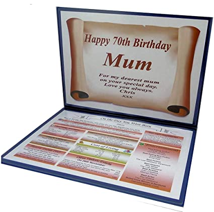 NWM Gifts 70TH BIRTHDAY GIFT