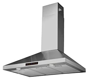 """Kitchen Bath Collection STL90-LED Stainless Steel Wall-Mounted Kitchen Range Hood with High-End LED Lights, 36"""""""