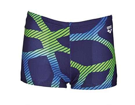 365a2a076b Image Unavailable. Image not available for. Color: arena Spider Junior  Swimming Short Navy/Green 29