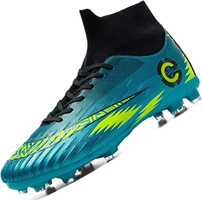 Donbest Botas de Fútbol para Hombre Spike Zapatillas de Fútbol Profesionales Atletismo Training Zapatos de Fútbol