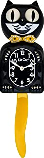 product image for Kit Cat Klock Limited Edition Black/Yellow Swarovski Crystals Jeweled Clock