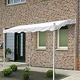 VERDELOOK Gazebo Pergola bianco struttura in ferro arredo esterni protezione solare casa