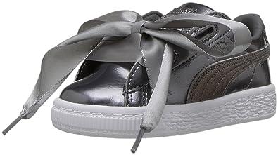 32805f0b6fc7 PUMA Baby Basket Heart Lunar Lux Kids Sneaker Smoked Pearl 6 M US Toddler