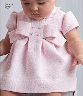 product image for Simplicity US8346A Babies' Matching Underwear and Dress Sewing Patterns, XX-Small/X-Small/Medium/Large