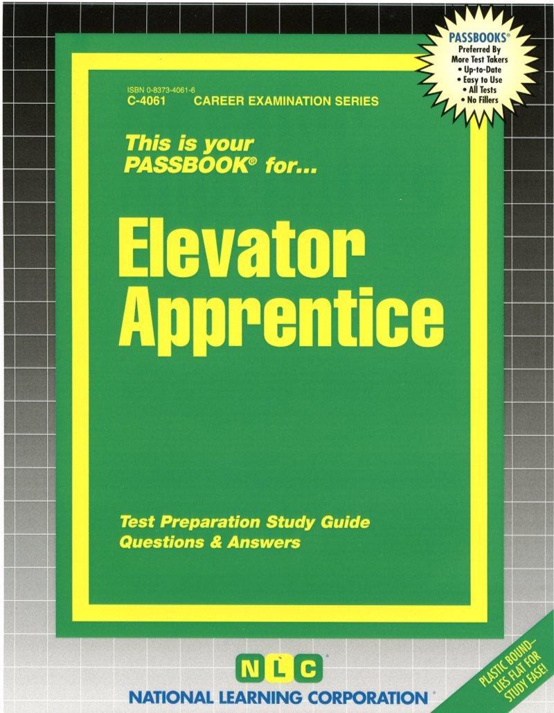 Elevator Apprentice(Passbooks): Jack Rudman: 9780837340616: Amazon.com:  Books