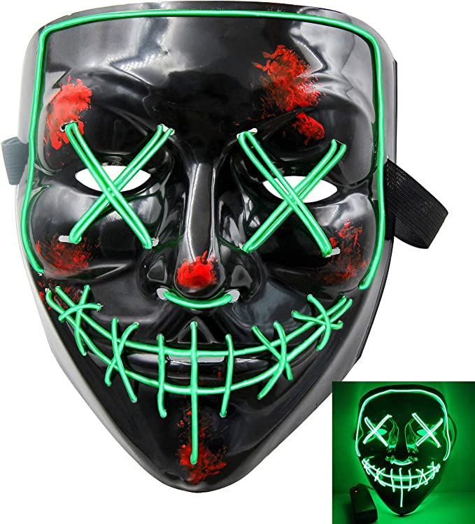 Halloween Scary Mask Cosplay Led Costume Mask