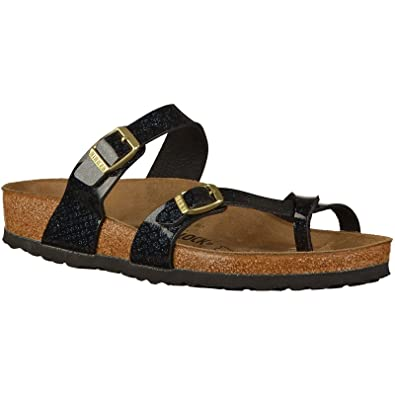 Birkenstock Womens Mayari Magic Snake Regular Fit BirkoFlor Sandal Black