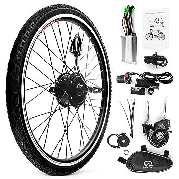Walmeck- Bicicleta eléctrica Rueda Trasera Disco de Freno Buje Kit de Motor 36V 250WControlador Velocidad
