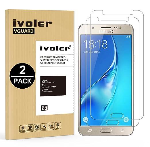 80 opinioni per [2 Pack] Pellicola Vetro Temperato Samsung Galaxy J7 2016, iVoler® **