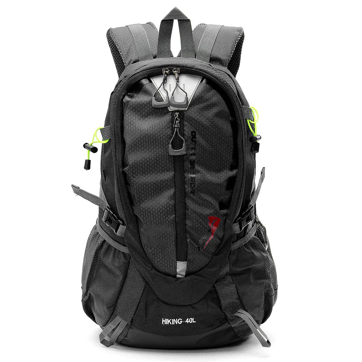 Black Outdoor Bag  Hiking & Climbing Bag  Laliva® 40L Waterproof Nylon Backpack Sports Travel Hiking Climbing Unisex Rucksack  (color  Black)