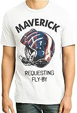 Retro Tees Men's Top Gun Maverick Requesting Fly by T-Shirt