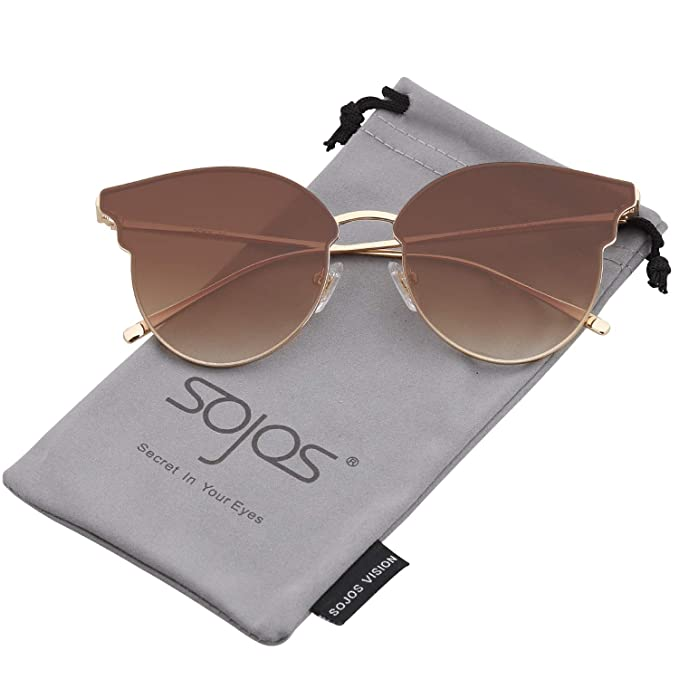 Fashion Cateye Sunglasses for Women Flat Lens SJ1070