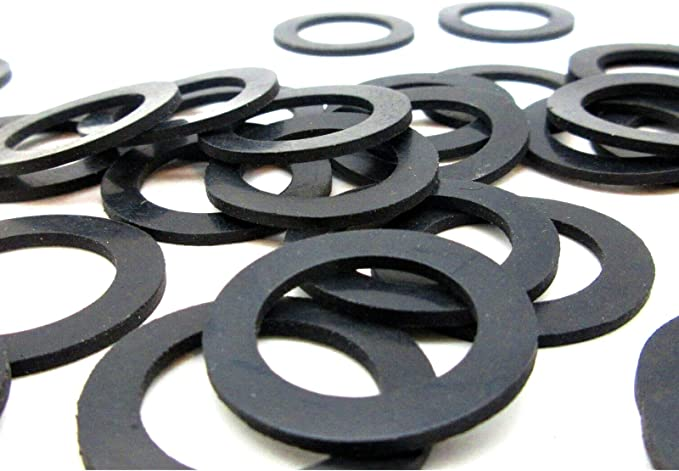 Details about  /50pcs Black Rubber Round Flat Washer Assortment Size 6x14x2.5mm Flat Washer
