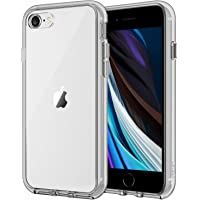 JETech Case for Apple iPhone SE 2nd Generation, iPhone 8 and iPhone 7, 4.7-Inch, Shockproof Bumper Cover, Anti-Scratch Clear Back, Grey