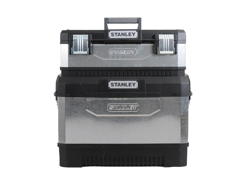 Stanley Werkzeugtruhe mit verzinkten Schlie/ßen 195828 mit Rollen, 66 cm