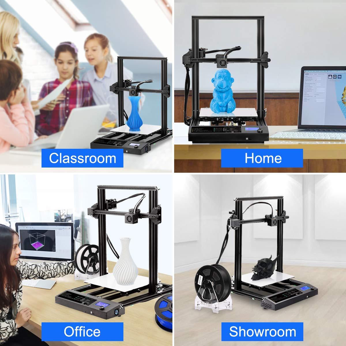 Fast Assembly Sunlu Imprimante 3D 3D pour bricolage FDM PETG 310 x 310 x 400 mm avec une taille de printing Size TPU works with PLA+ PP Heated Beds fibre de carbone et More