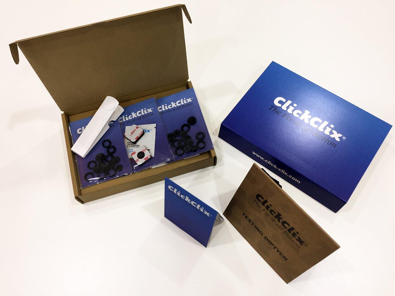 12 Unidades, Azul ClickClix Sistema Patentado de uni/ón para Calcetines
