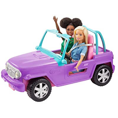 ​Barbie Off-Road Vehicle, Purple with Pink Seats and Rolling Wheels, 2 Seats, Gift for 3 to 7 Year Olds: Toys & Games