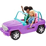 Barbie Off-Road Vehicle, Purple with Pink Seats and Rolling Wheels, 2 Seats, Gift for 3 to 7 Year Olds