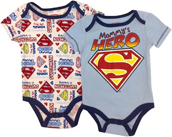 Superman Mommy s Little Hero Baby 2 Pack Body Set 0 – 9 Meses - Azul -: Amazon.es: Ropa y accesorios