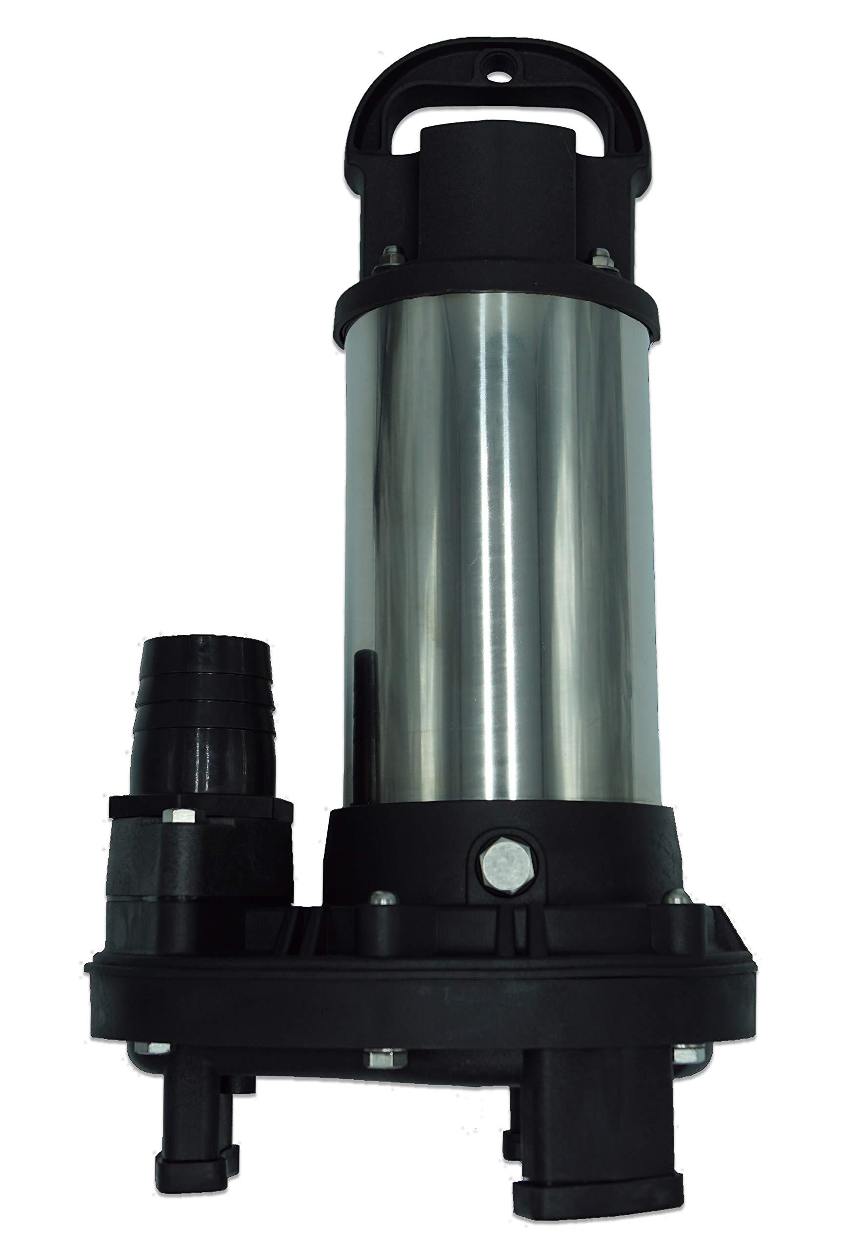 Piranha 4,200 GPH Direct Drive Submersible Pump - Up To 4,200 GPH Max Flow