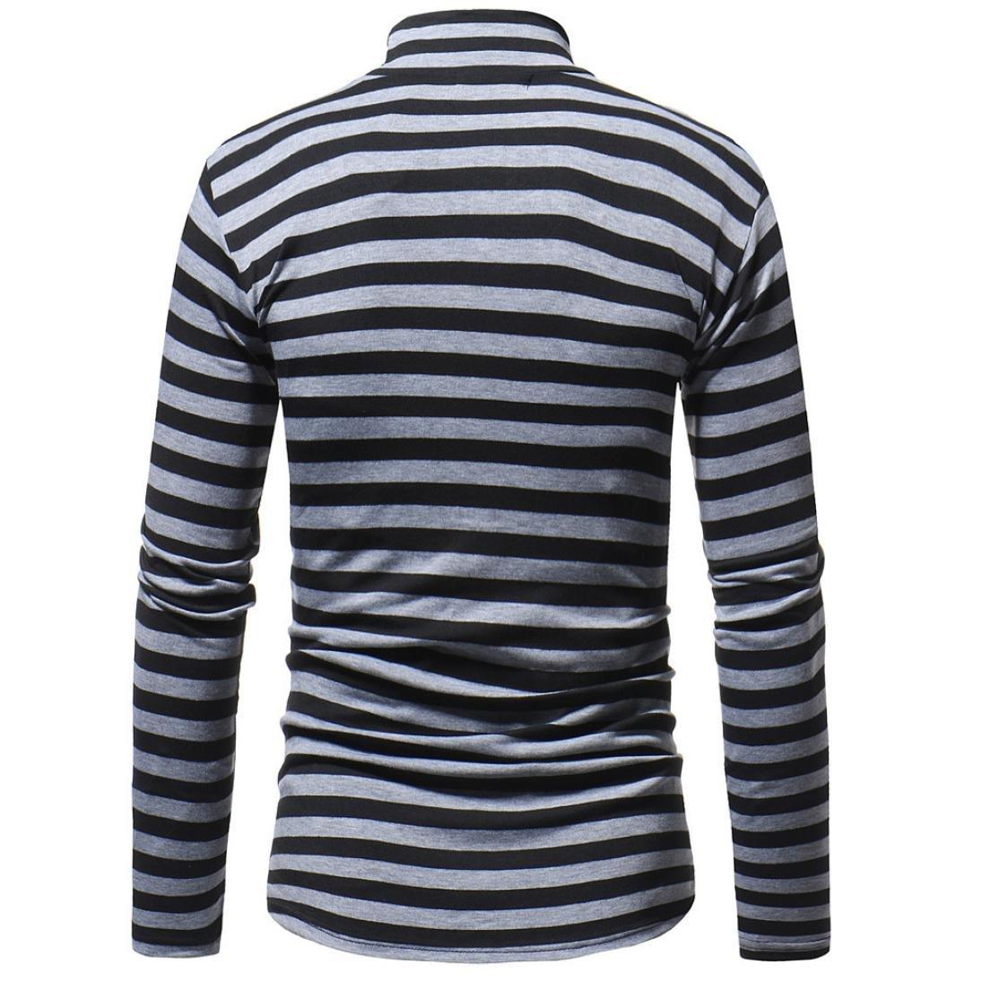 Amazon.com: GREFER - Camiseta de invierno para hombre, manga ...