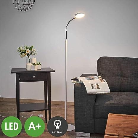 LED Lámpara de pie Milow (Moderno) en Blanco hecho de Plástico ...