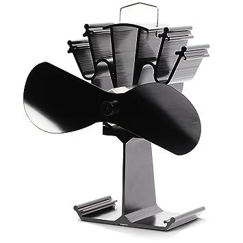 Kenley - Ventilador ecológico para estufa de madera gas carbón, 2/4 hélice, 2 hélice: Amazon.es: Hogar
