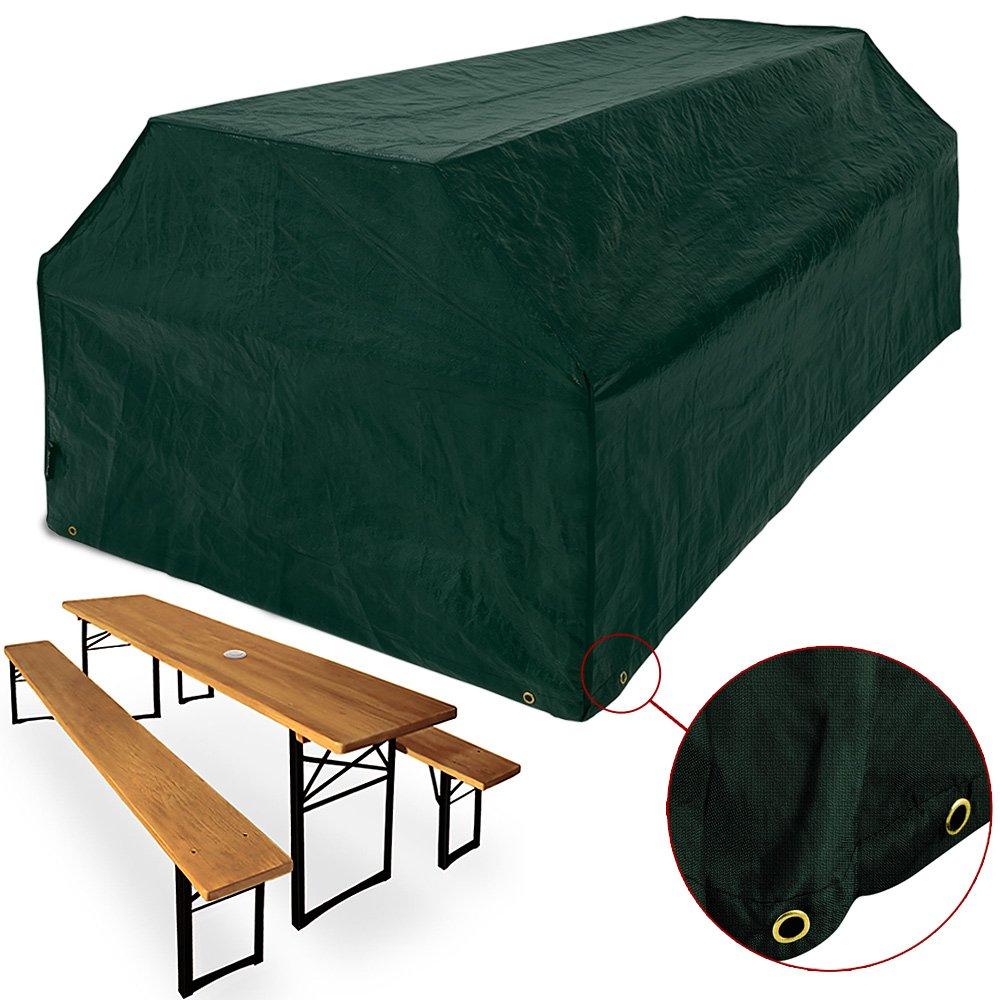 Amazon.de: Schutzhülle für Bierzeltgarnitur | 180 x 95 x 76cm | Ösen ...