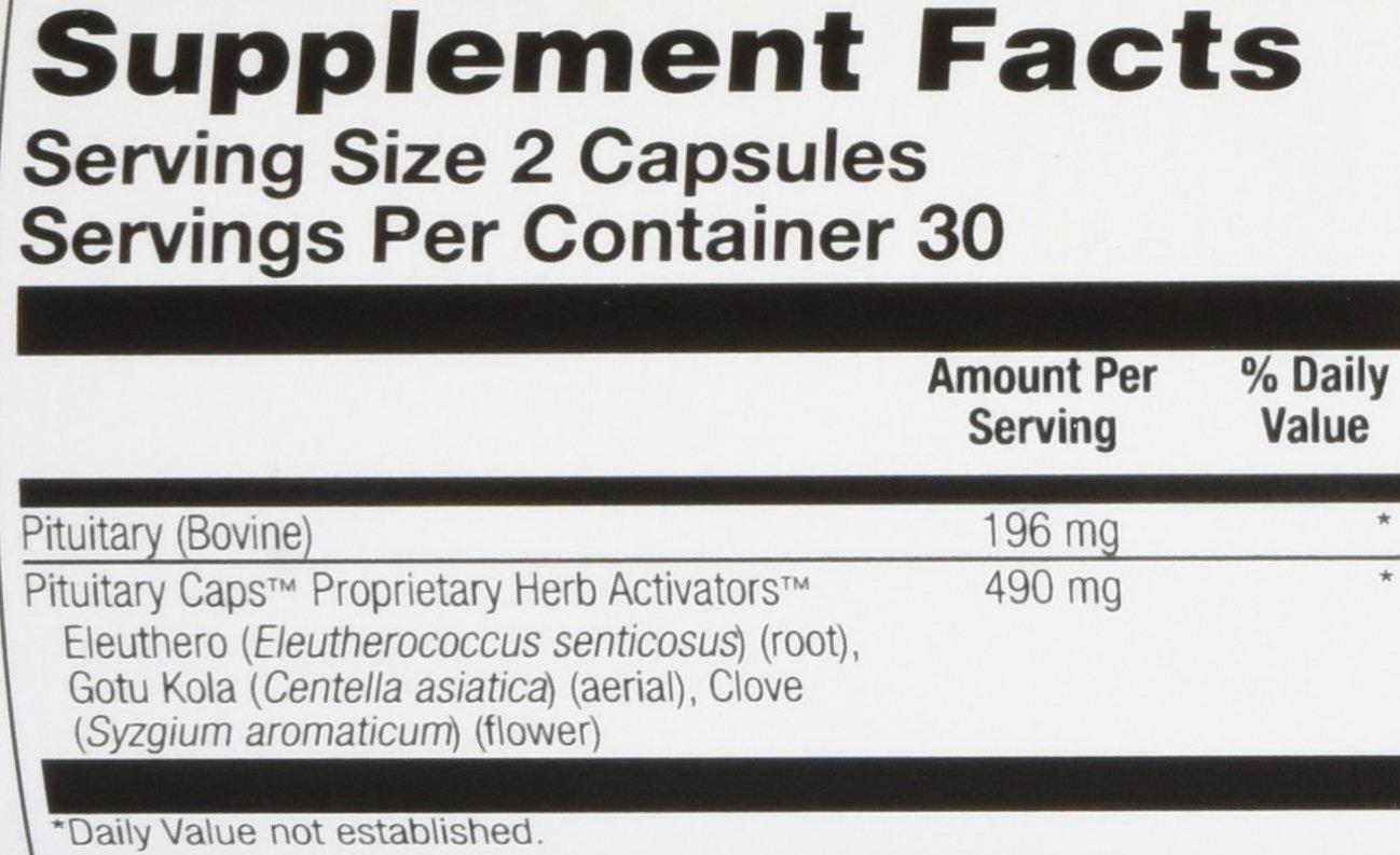 Amazon.com: Solaray pituitary Caps Suplemento, 196 mg, 60 ...