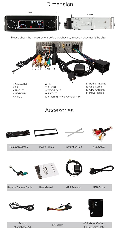 Pumpkin 7 Detachable Touch Screen Bluetooth Car Gps E90 Radio Wire Diagram On Trigger Electronics